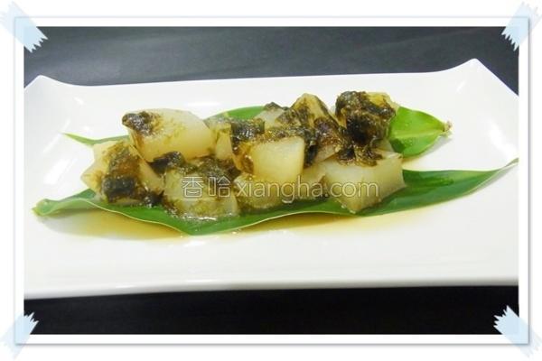 奶油海苔煮萝卜的做法