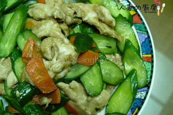 黄瓜炒清鸡的做法