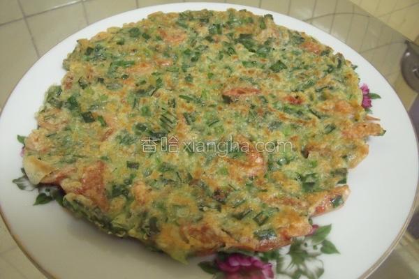 樱花虾韭菜煎饼的做法