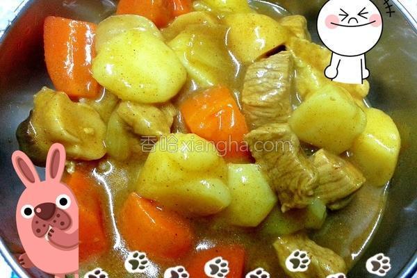 里脊菇菇咖哩饭的做法