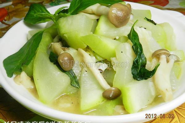 塔香菇菇瓠瓜的做法