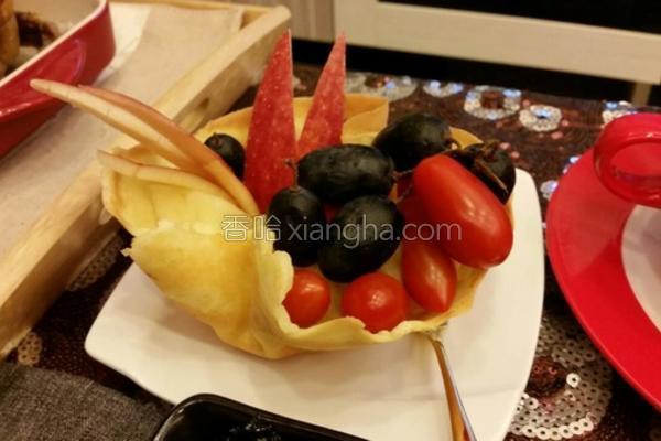 水果盅饼皮的做法