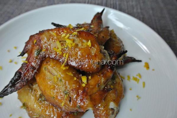 橙香烤鸡翅