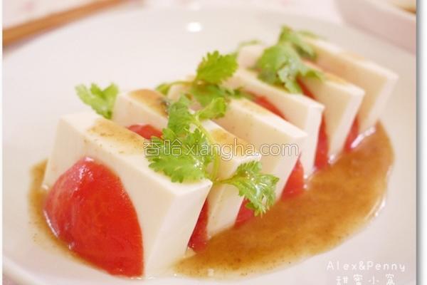 凉拌番茄豆腐的做法