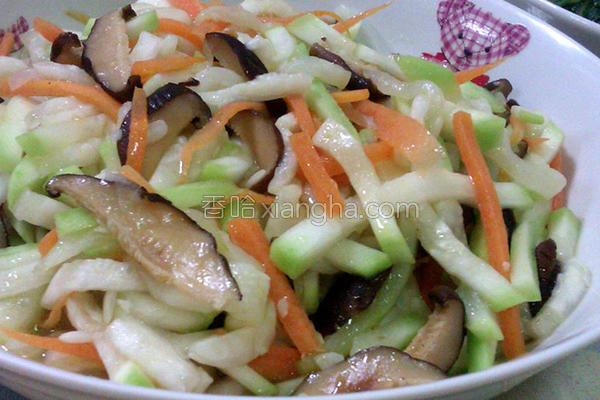 香菇炒胡瓜丝的做法