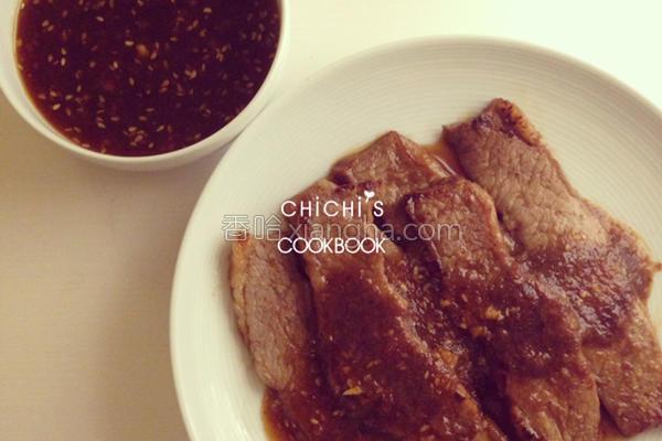 韩式烤肉酱牛小排的做法