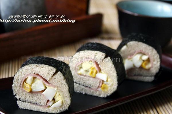 鸡蛋沙拉吐司寿司的做法