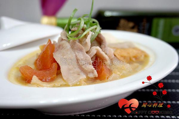 番茄肉片锅的做法