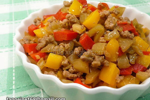 甜椒辣炒酸菜的做法