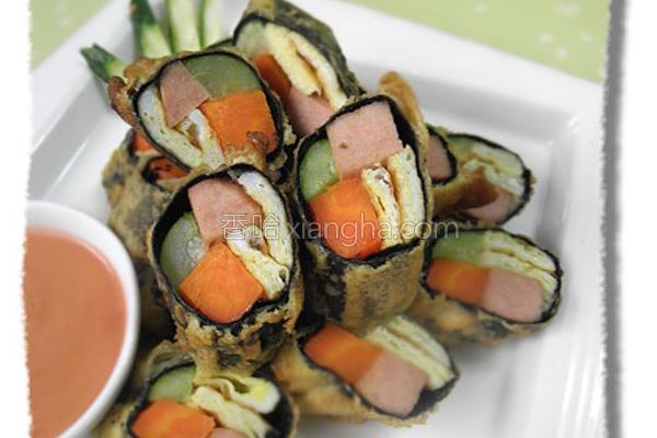 素食海苔卷的做法