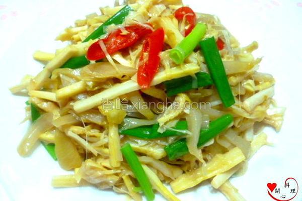 蚝油酸菜笋的做法