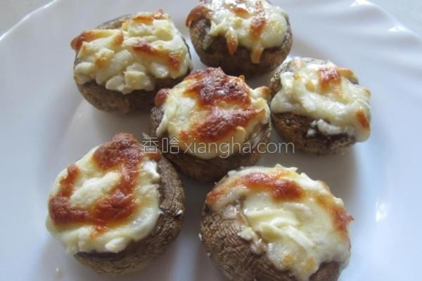 起司烤蘑菇的做法