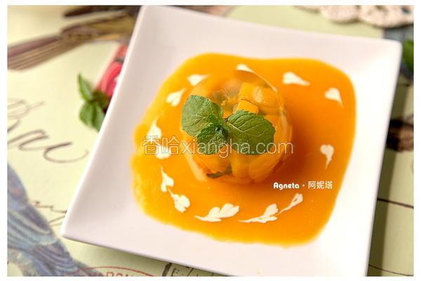 芒果清酒冻