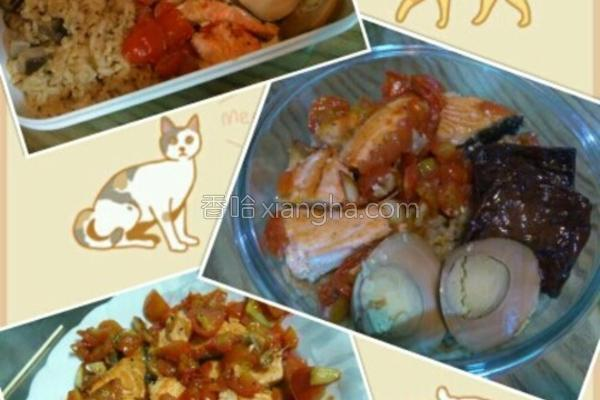 嫩煎番茄鲑鱼的做法