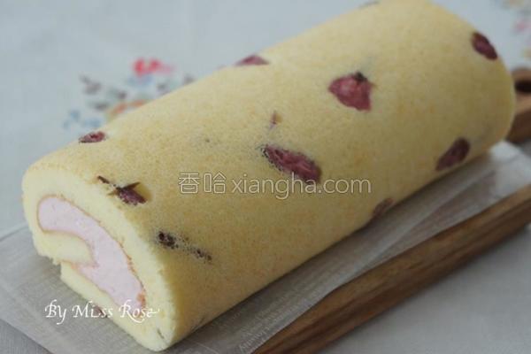 樱花蛋糕卷的做法