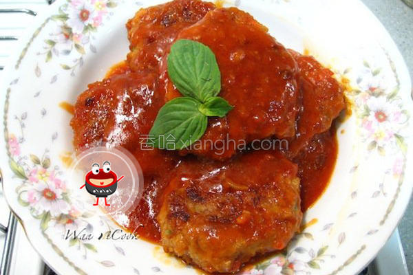 番茄汉堡肉排的做法