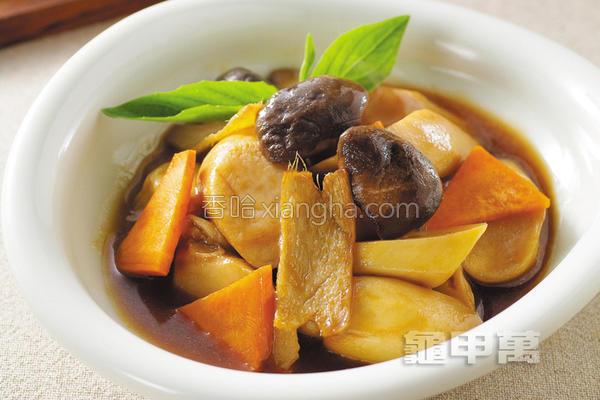 蔬香满庭红烧鲍菇的做法