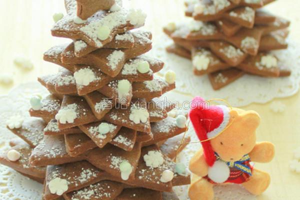巧克力曲奇圣诞树的做法