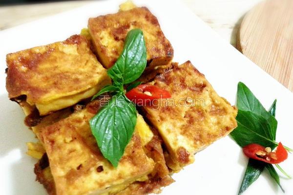 葱烧蛋煎豆腐的做法