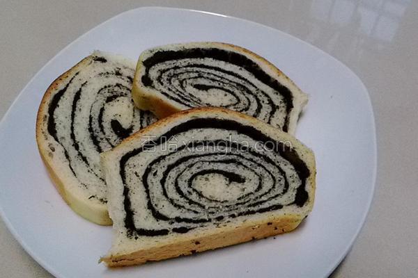 黑芝麻蜗牛吐司的做法