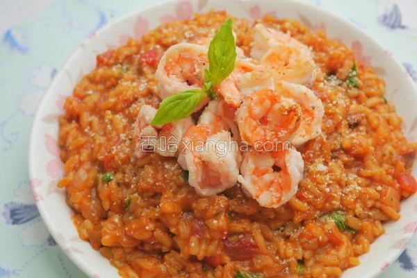 鲜虾番茄炖饭