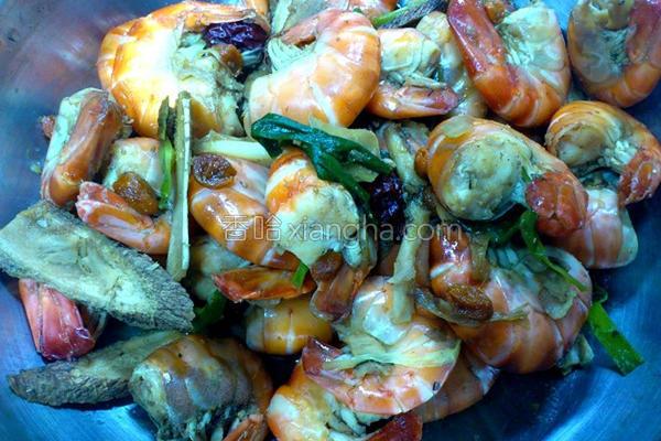 养生虾的做法