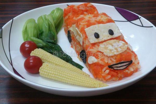 闪电麦坤红萝卜饭的做法