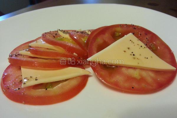 超番茄起司沙拉的做法