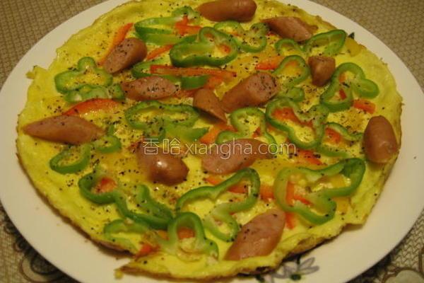彩椒披萨烘蛋的做法