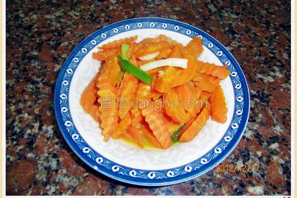 蒜炒红萝卜的做法