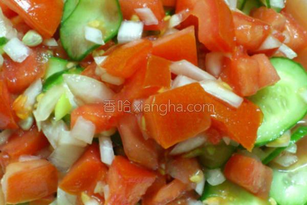 开胃番茄小黄瓜的做法