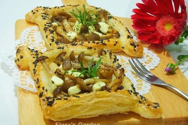 海鲜菇奶酪咸酥派的做法
