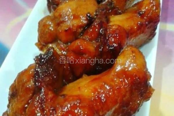 蒜香豉油烧鸡翅