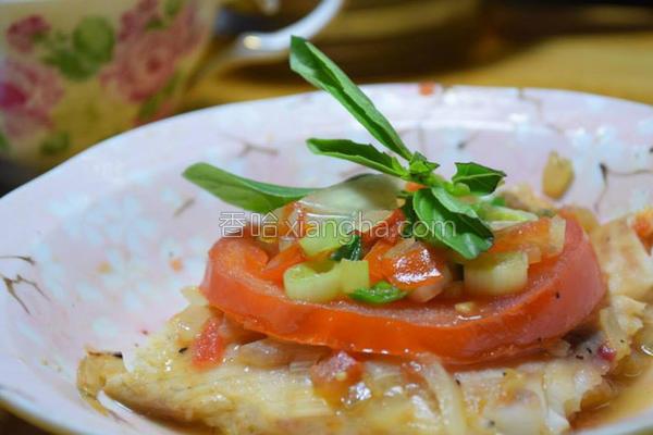 香葱番茄煎鲑鱼的做法