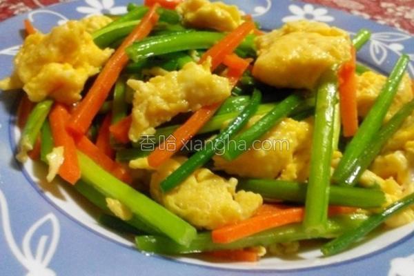 韭菜炒蛋的做法