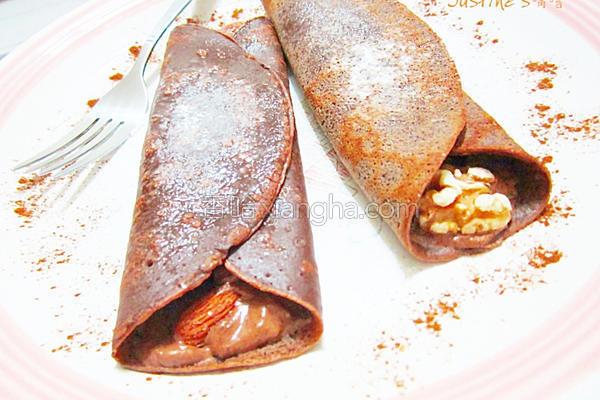 坚果巧克力可丽饼的做法