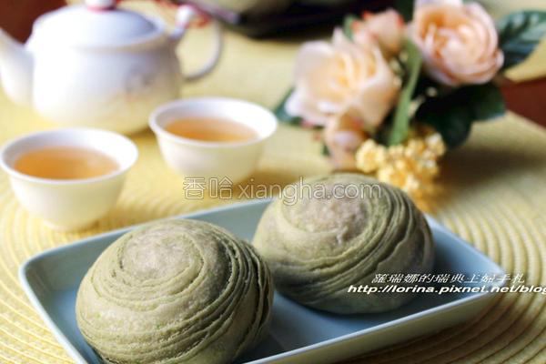 抹茶红豆酥的做法