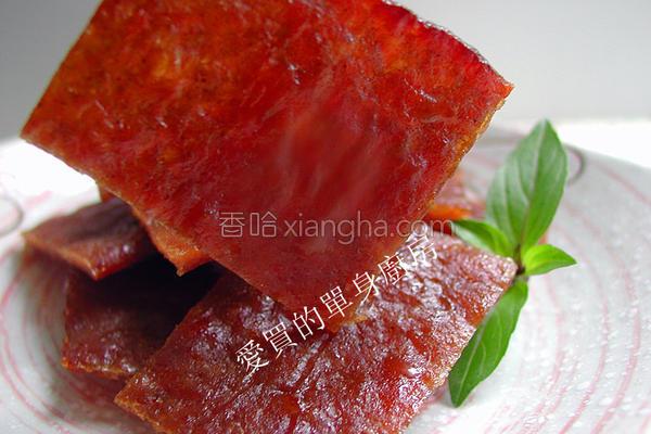 蜜汁猪肉干的做法
