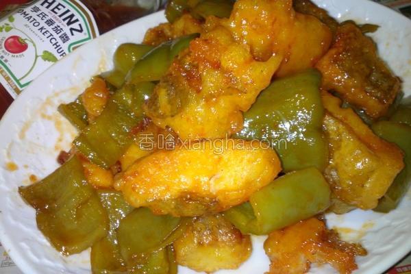 茄烩青椒鱼块的做法