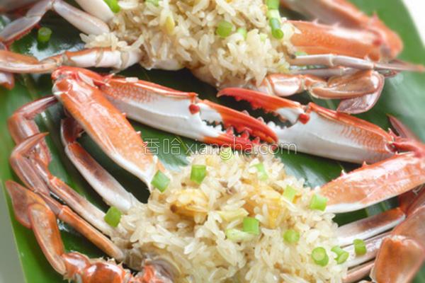 竹叶香米糕螃蟹的做法