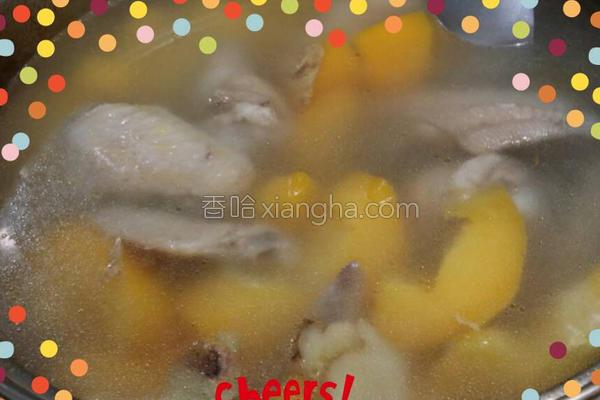 青木瓜鸡汤的做法