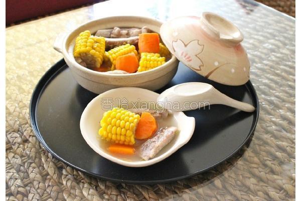 玉米萝卜猪骨汤的做法