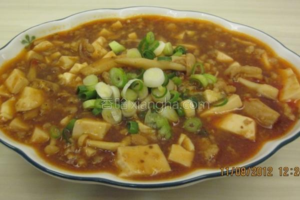 菇菇烩麻婆豆腐的做法