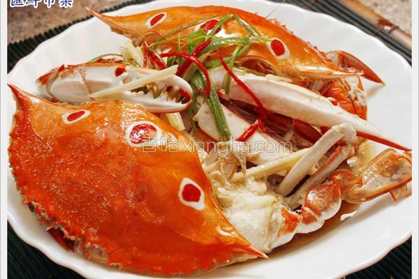 葱油三点蟹的做法