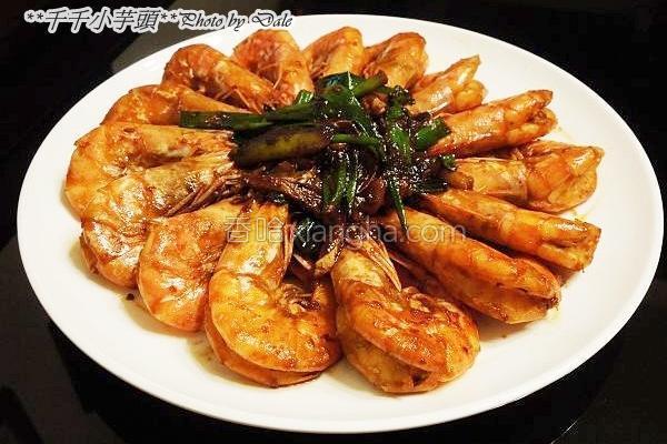 酱烧白虾的做法