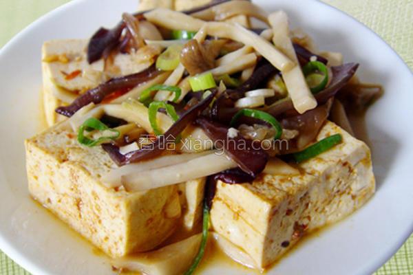 厚生厨房豆腐鲜菇的做法