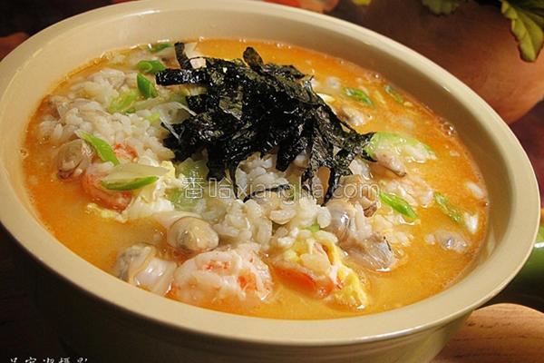 鲜虾蛤蜊杂炊的做法