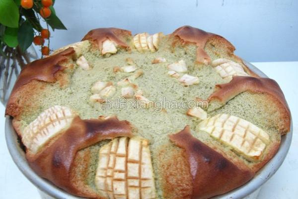 抹茶苹果戚风蛋糕的做法