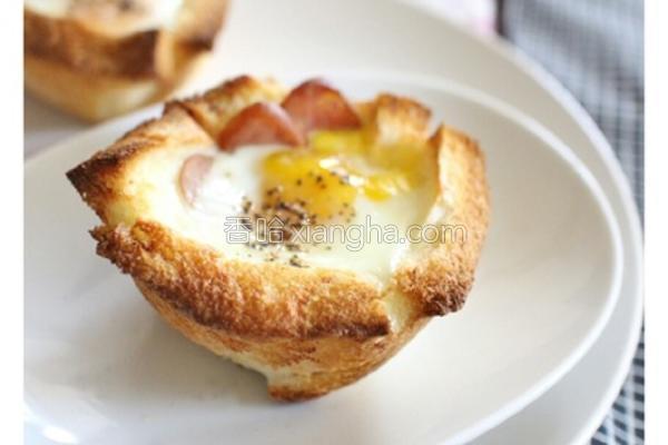 吐司烤蛋盅的做法