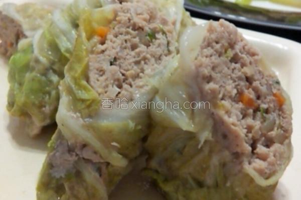 白菜肉卷的做法